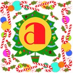 Bright and Festive Christmas Tote, Monogrammed