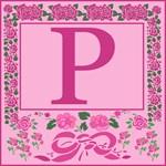 Pink Ribbons and Roses Monogram Bag