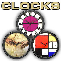 Wall Clocks in Many Colors and Styles