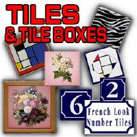 Tiles, Boxes, Hostess Sets, Coasters
