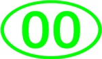 Number Ovals - 00 to 49 (Green)