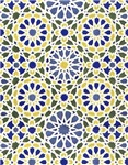 Geometric Patterns in Yellow and Blue