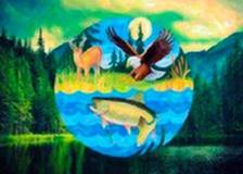 Deer, Eagle, Fish