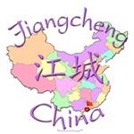 Jiangcheng China Color Map