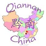 Qiannan China Color Map