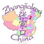 Zhangjiakou China Color Map