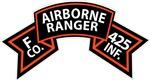 F Co 425th Infantry (Ranger) Scroll