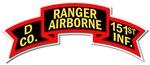 D Co - 151st Infantry (Ranger) Scroll