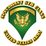 Army - Specialist 5 with Text