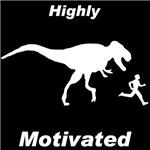 Motivation T Rex and Running Man on Dark Items