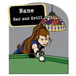 Personalized Womens Billiards