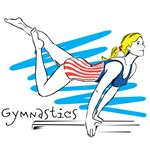 Gymnast on Beam T-Shirts and Gifts