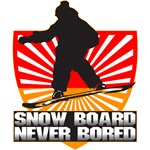 Snow Board-Never Bored T-Shirts and Gifts