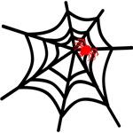Spider Web with Spider Halloween Design