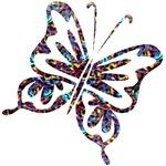 Groovy Retro Butterfly