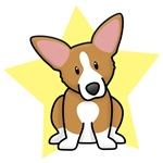 Yellow Star Kawaii Corgi