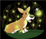 Corgi and Lightning Bug