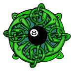 Irish Pool Player, 8 Ball Celtic Knot Design