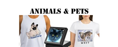 Animal Shirts And Gifts, Blue Persian Cat And Dog
