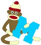 Sock Monkey Monogram Boy M