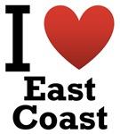 I Love East Coast Light Tee