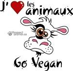 J'aime les animaux - Go Vegan