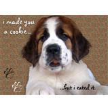 St Bernard Puppy Cookie