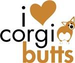 I Heart Corgi Butts - Red & White Pembroke