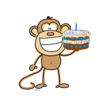 Birthday Cake Monkey