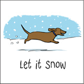 Dachshund Let It Snow