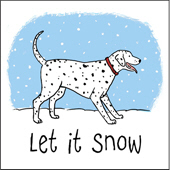 Dalmatian Let It Snow