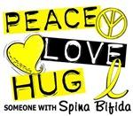 Peace Love Hug 1 Spina Bifida T-Shirts