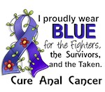 For Fighters Survivors Taken Anal Cancer Shirts