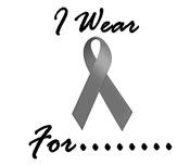 I Wear Grey 1 Brain Cancer Tumor Shirts & Apparel