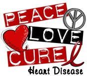 PEACE LOVE CURE Heart Disease T-Shirts & Gifts