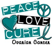 PEACE LOVE CURE Ovarian Cancer