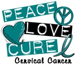 Peace Love Cure Cervical Cancer Shirts & Gifts