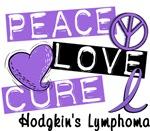 Peace Love Cure Hodgkin's Lymphoma T-Shirts