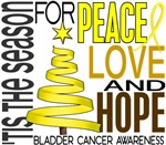 Christmas 1 Bladder Cancer Holiday Cards Ornaments