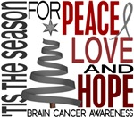 Christmas 1 Brain Cancer Holiday Cards Gifts Shirt