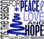 Christmas 1 Colon Cancer Holiday Cards and Gifts