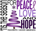 Christmas 1 Pancreatic Cancer Cards Ornaments Gift