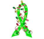 Christmas Lights Ribbon Lymphoma Gifts