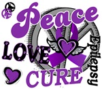 Peace Love Cure Epilepsy T-Shirts