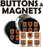 People Are People Buttons and Magnets