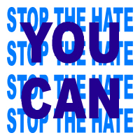 You can stop the hate