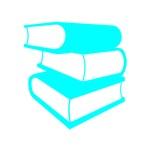 Stack Of Cyan Books