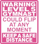 Warning Level 5 Gymnast Could Flip At Any Mome