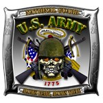 US Army National Guard Skull Framed