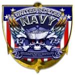 USN Navy 1775 Skull Bones Shield
